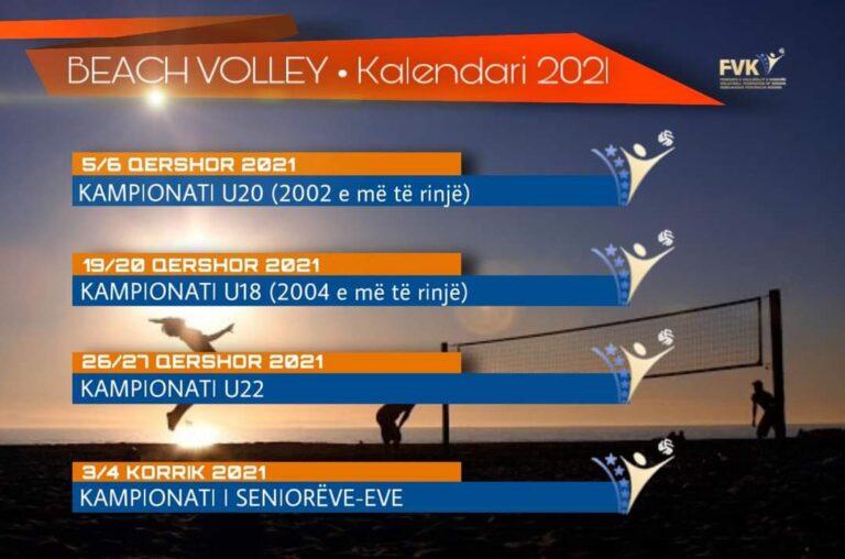 BEACH VOLLEY • KALENDARI 2021